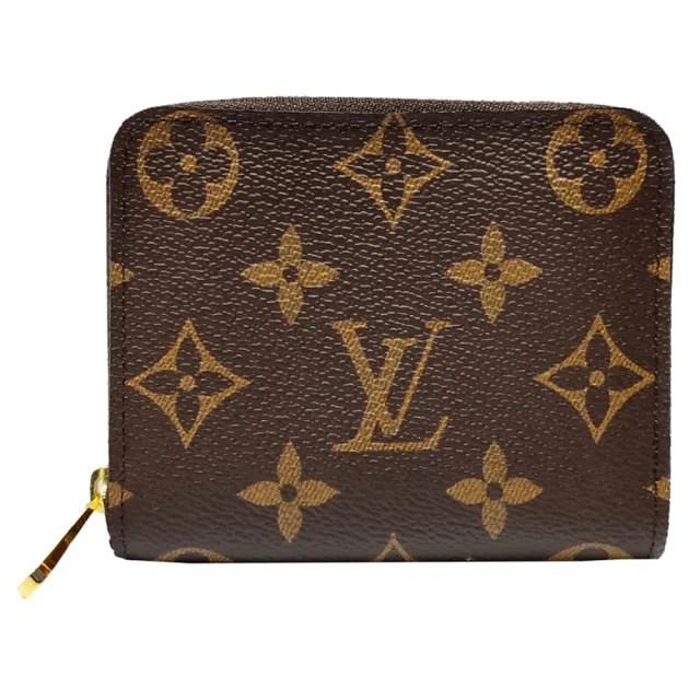 【Louis Vuitton 路易威登】M60067 經典Monogram帆布印花拉鍊零錢包(棕色)