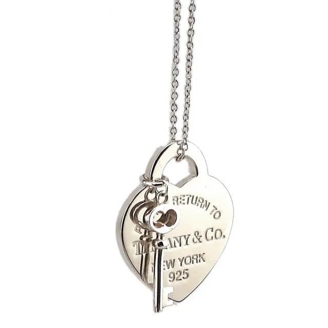 【Tiffany&Co. 蒂芙尼】Return To Tiffany 925純銀愛心鑰匙墜飾項鍊