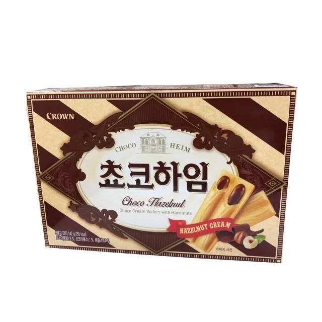 【CROWN 皇冠】榛果巧克力醬威化酥142公克(威化酥)