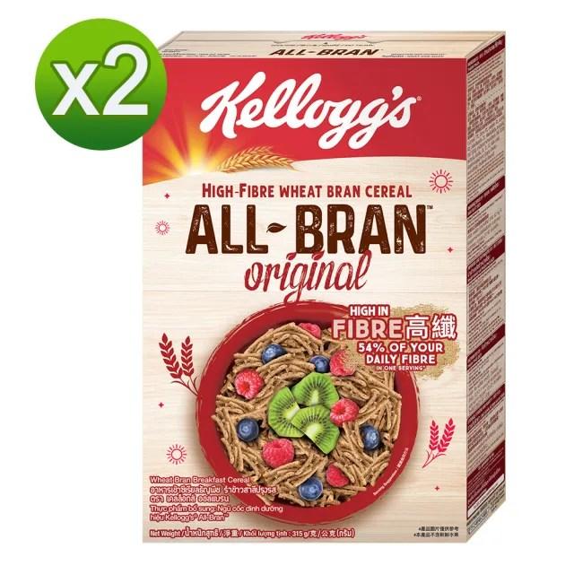 【家樂氏Kelloggs】高纖麥麩315gX2(早餐麥片/穀片)
