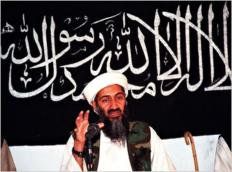 Osama bin Laden in Afghanistan in an undated photo.