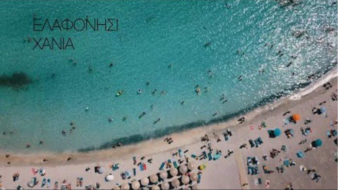 Elafonisi Drone Chania Crete Greece 4K