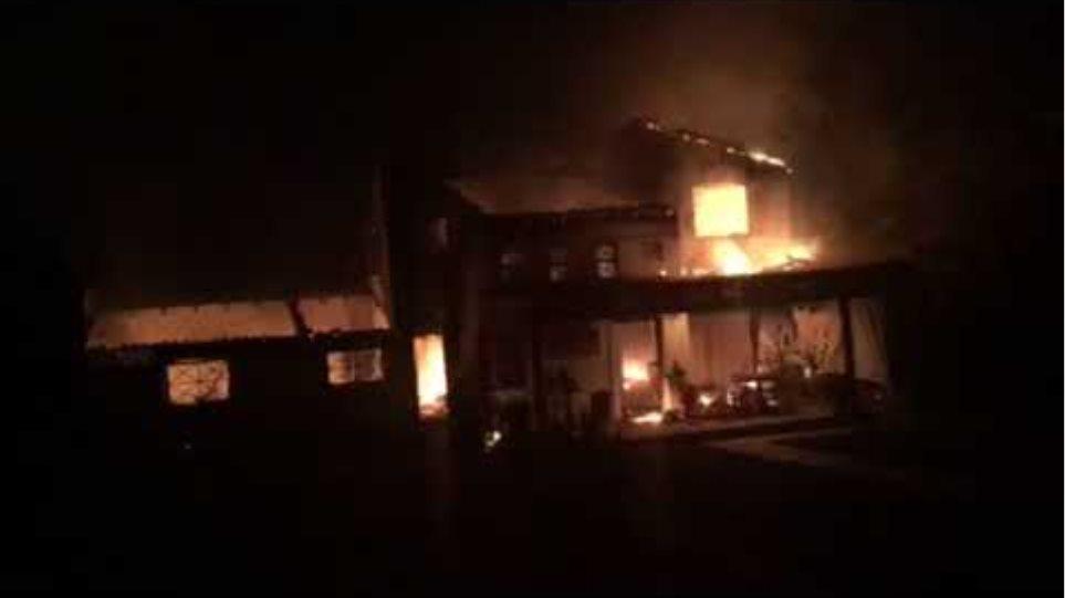 Βίντεο φωτιά σε σπίτι (2)