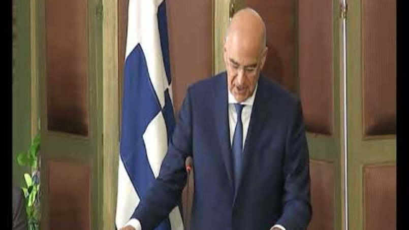 Δήλωση ΥΠΕΞ Ν. Δένδια μετά την υπογραφή συμφωνίας οριοθέτησης AOZ Ελλάδος και Αιγύπτου (06.08.2020)
