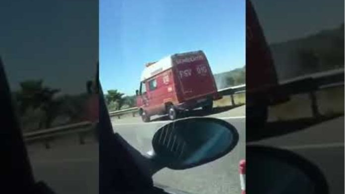 Scenario of the traffic accident in which the footballer José Antonio Reyes, his nephew,