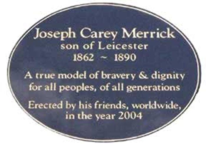 Reprodução/ Joseph Carey Merrick Tribute Website