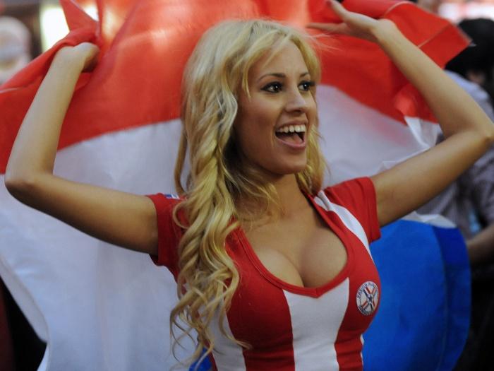 A modelo paraguaia Patty Orué também chamou a atenção durante a Copa América, na Argentina