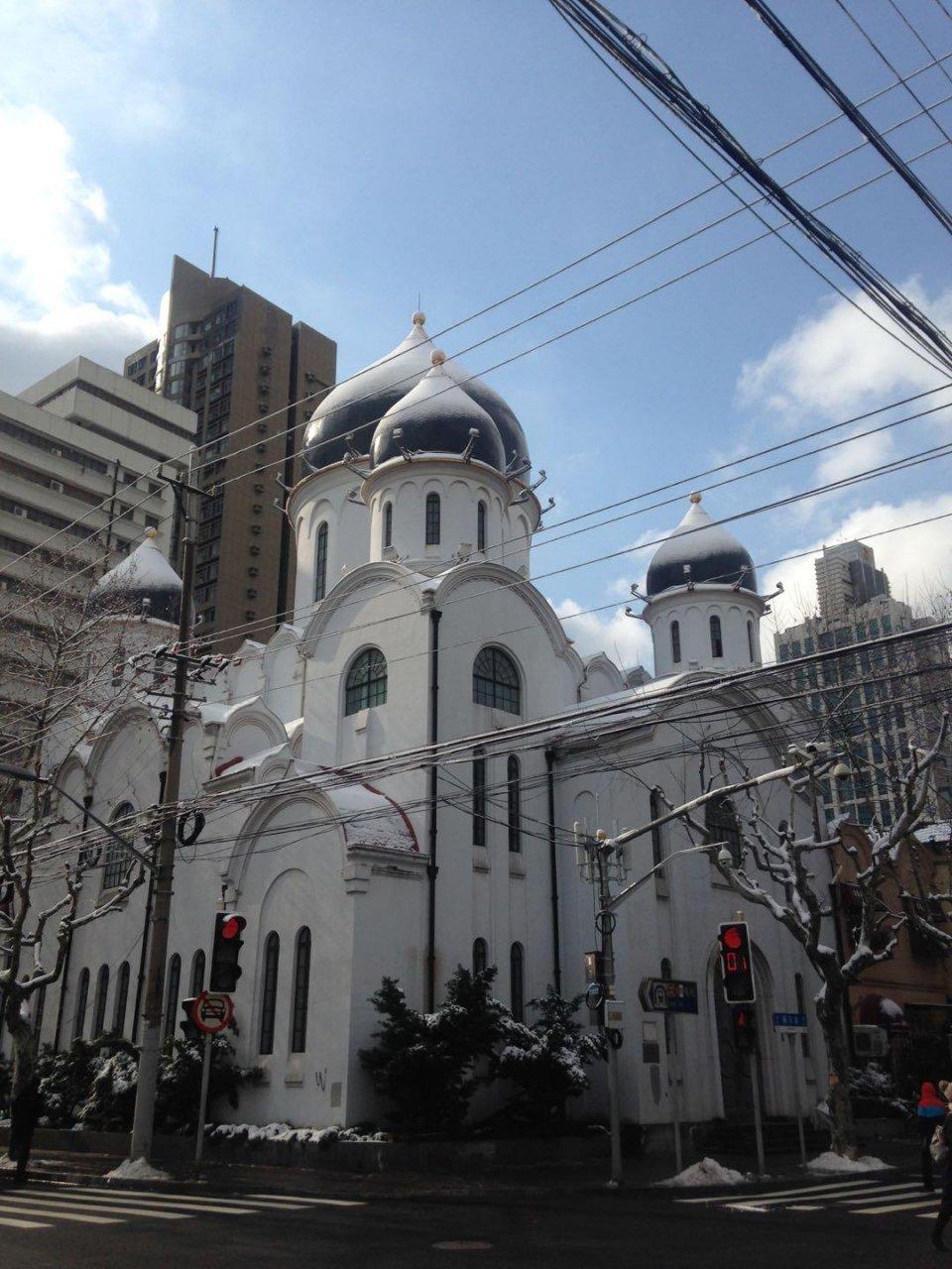 雪中的童話建築-上海聖母大教堂 - 壹讀