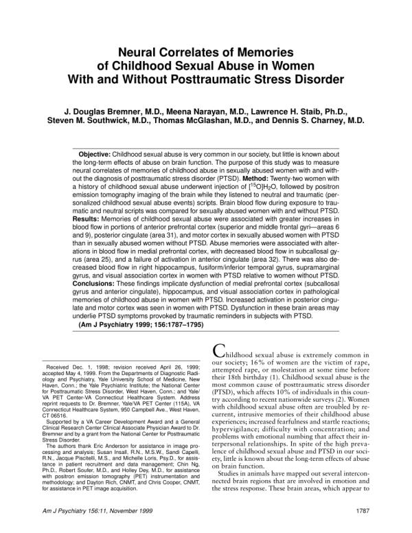 Bremner JD, Narayan M, Staib LH,... (PDF Download Available)