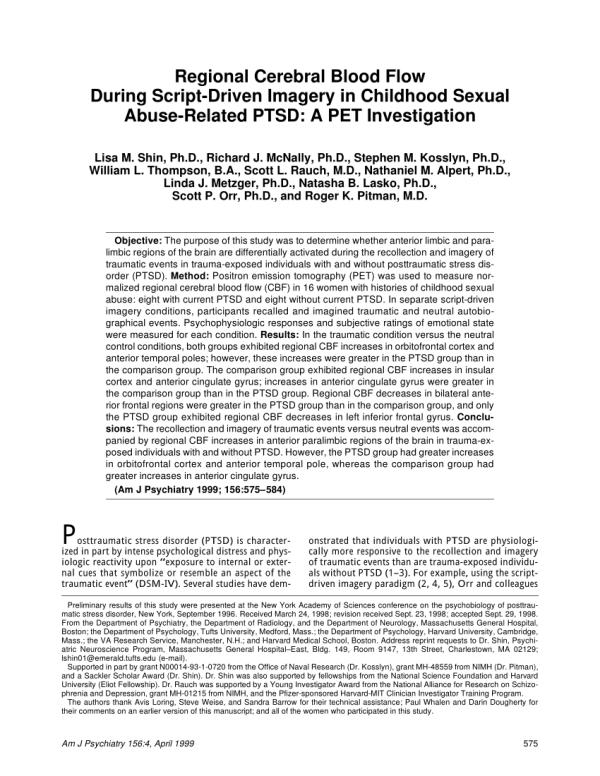 (PDF) Regional cerebral blood flow during script-driven ...