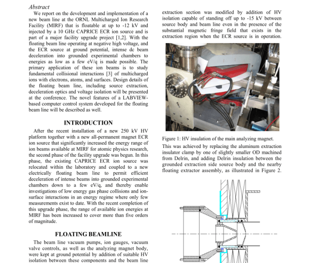 Pdf The Ornl Multicharged Ion Research Facility Mirf High Voltage Platform Project
