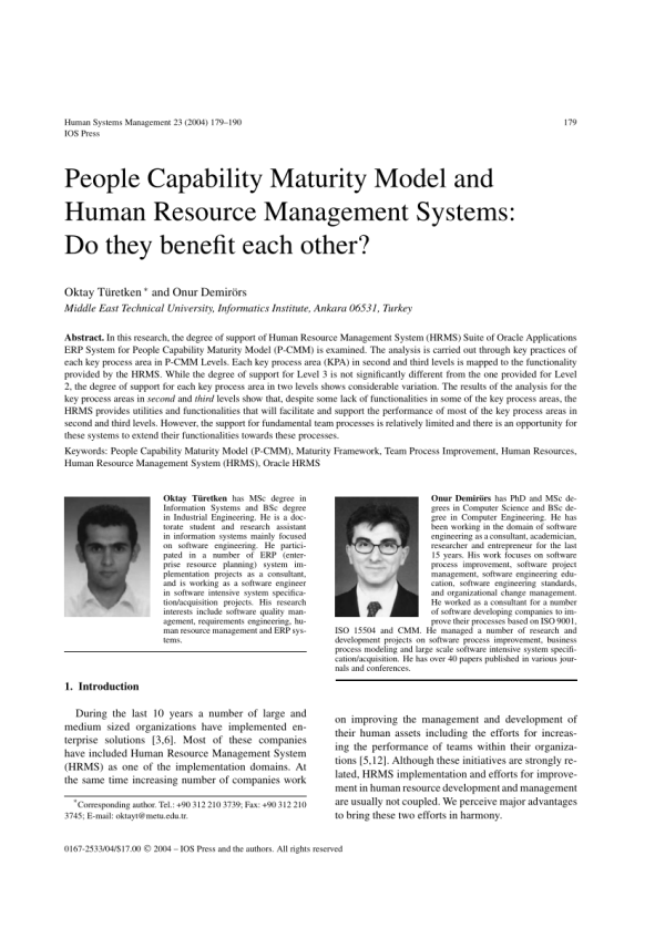 (PDF) People Capability Maturity Model & Human Resource ...