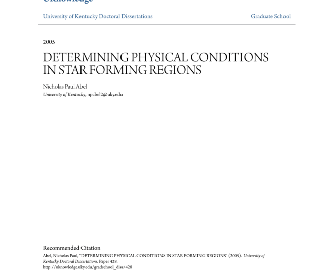 Pdf Determining Physical Conditions In Star Forming Regions