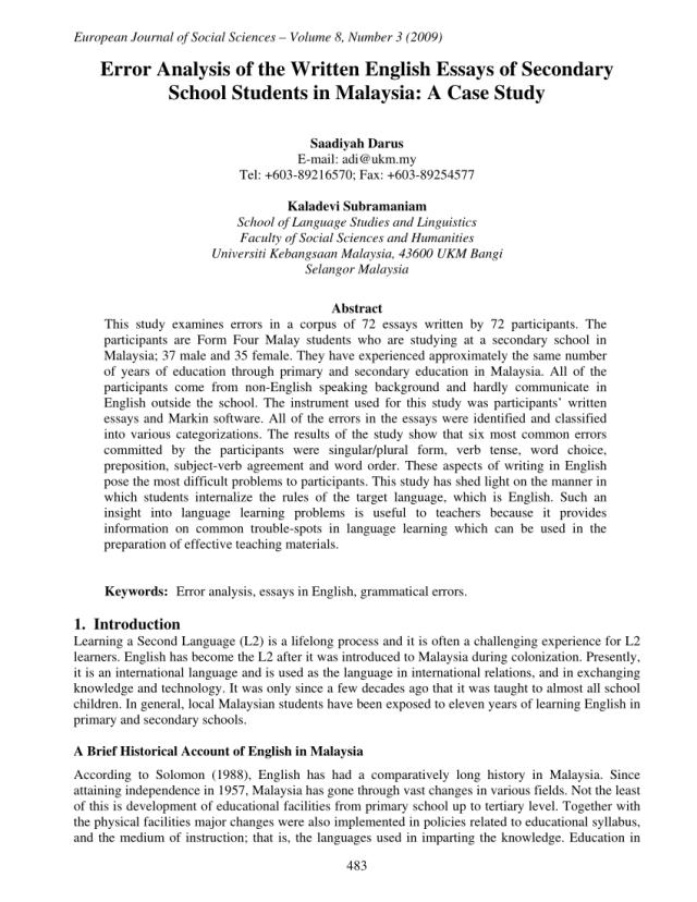 english essays for high school students pdf secondary school