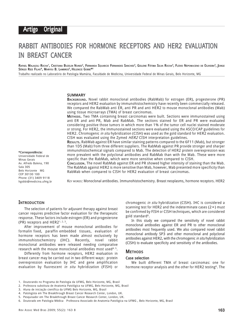 pdf predictive factors of breast cancer evaluated by immunohistochemistry