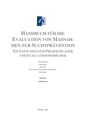 (PDF) HANDBUCH FÜR DIE EVALUATION VON MAßNAH MEN ZUR