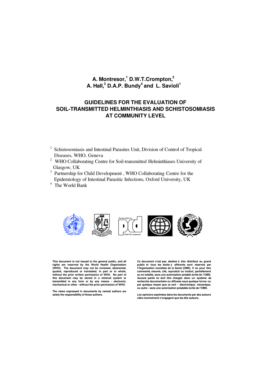 pdf use of remote sensing and a geographical information system in a national helminth control programme in chad