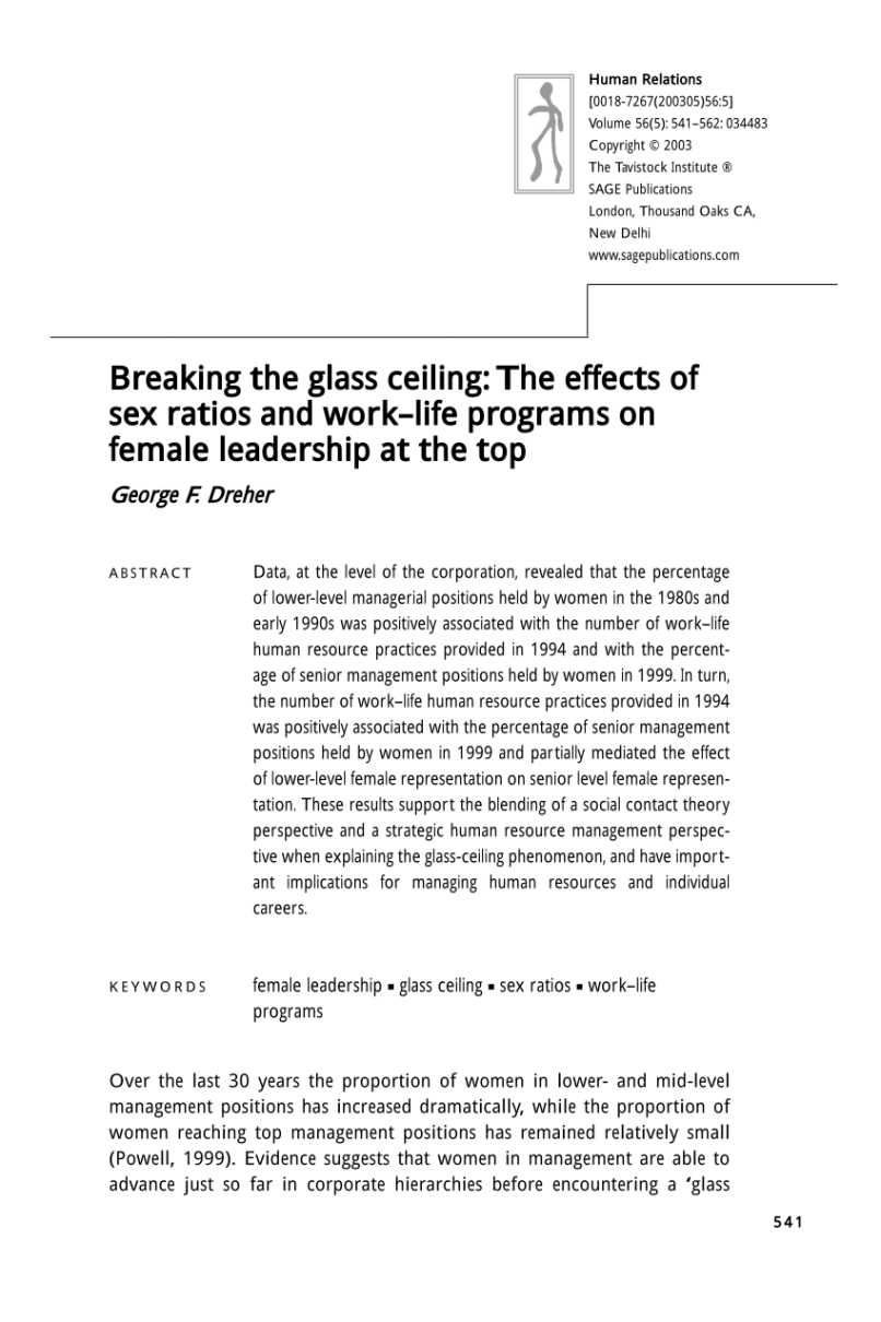 The 2017 Glass Ceiling Report