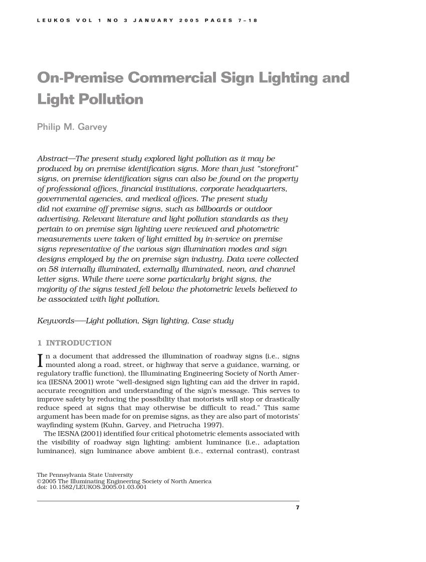 on premise commercial sign lighting