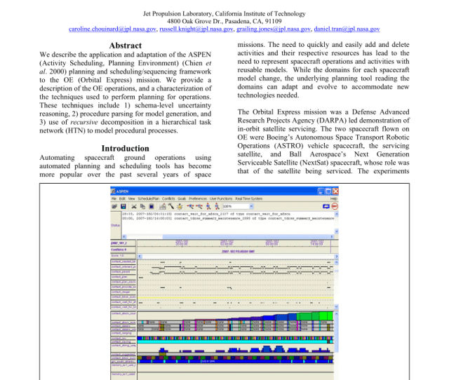 An Aspen Application Automating Ground Operations For Orbital Express Pdf Download Available