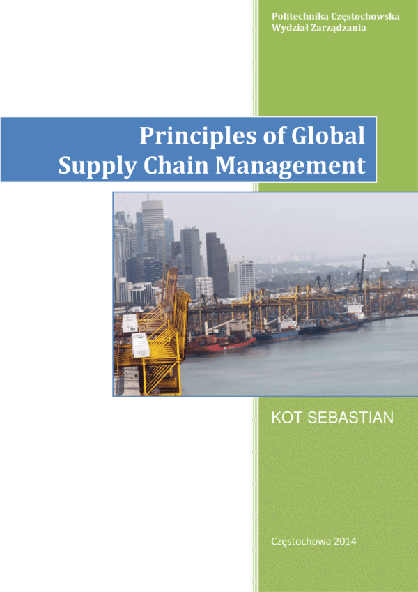 (PDF) Principles of Global Supply Chain Management