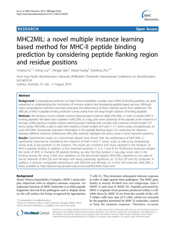 (PDF) MHC2MIL: A novel multiple instance learning based ...