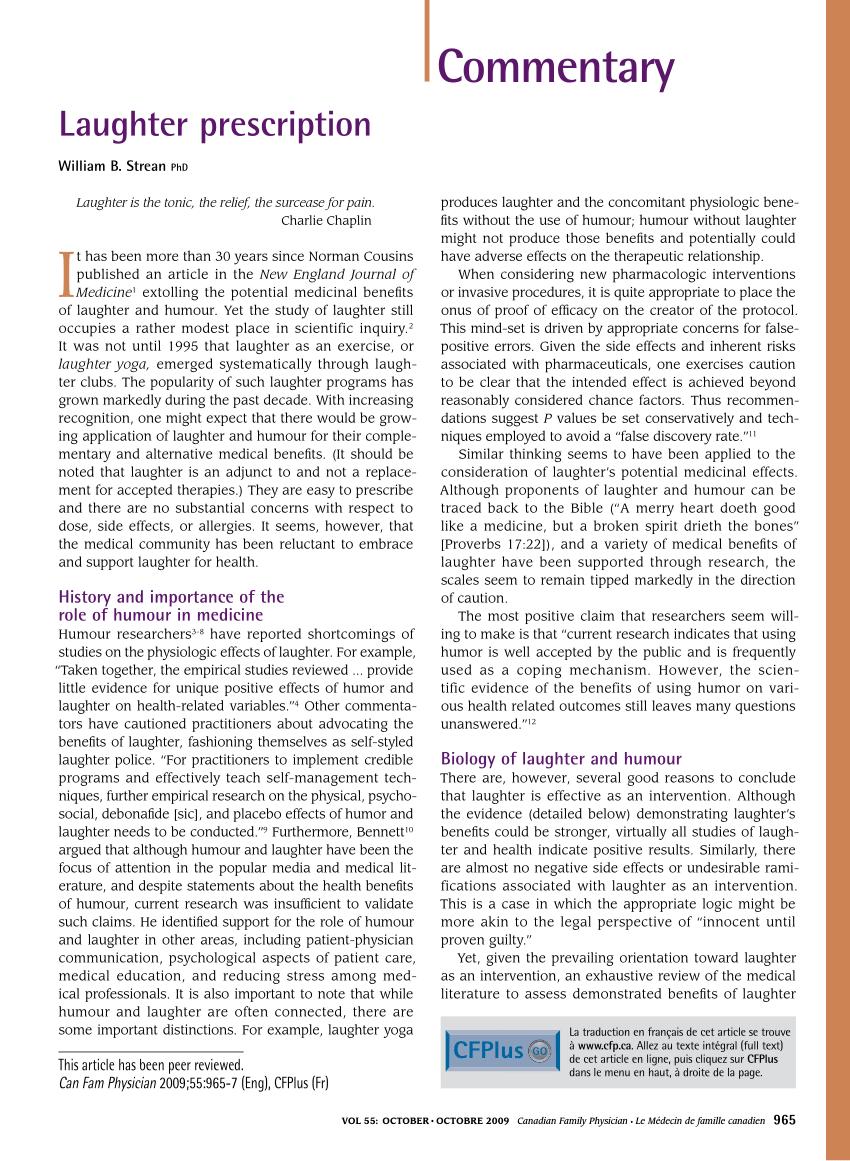 pdf laughter prescription