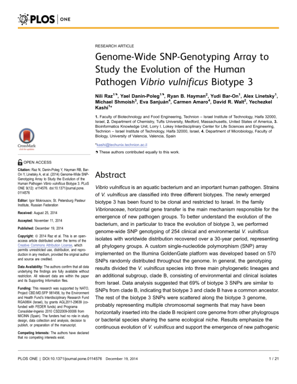 (PDF) Genome-Wide SNP-Genotyping Array to Study the ...