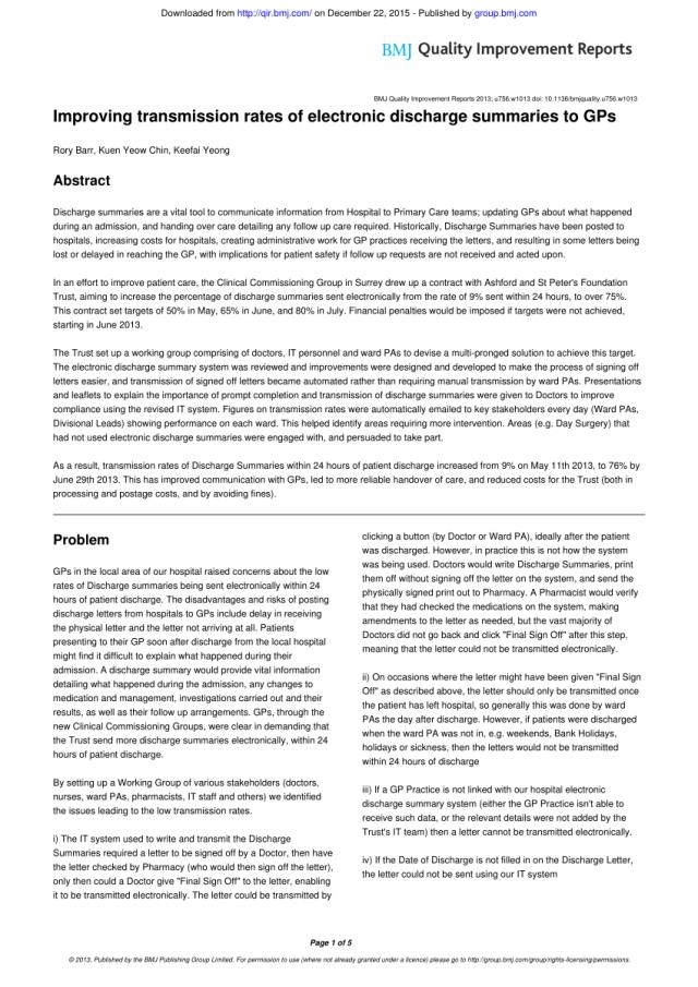 PDF) Improving transmission rates of electronic discharge