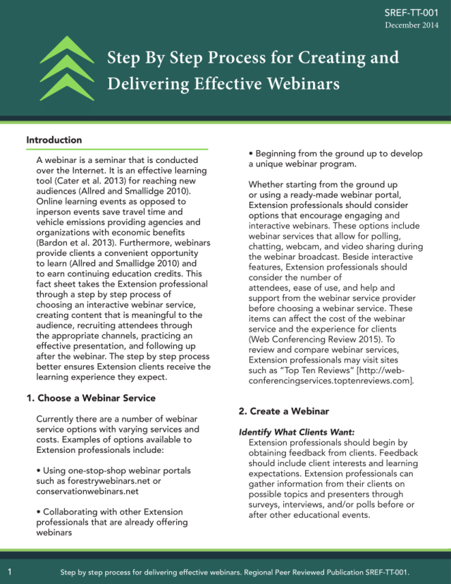 PDF) Step By Step Process for Creating and Delivering Effective