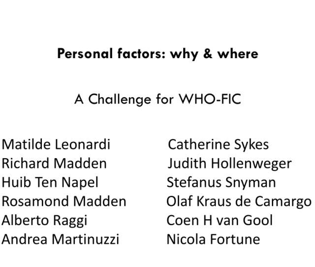 Pdf Icf Personal Factors Why And Where A Challenge For Who Fic
