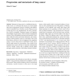 Pdf Progression And Metastasis Of Lung Cancer