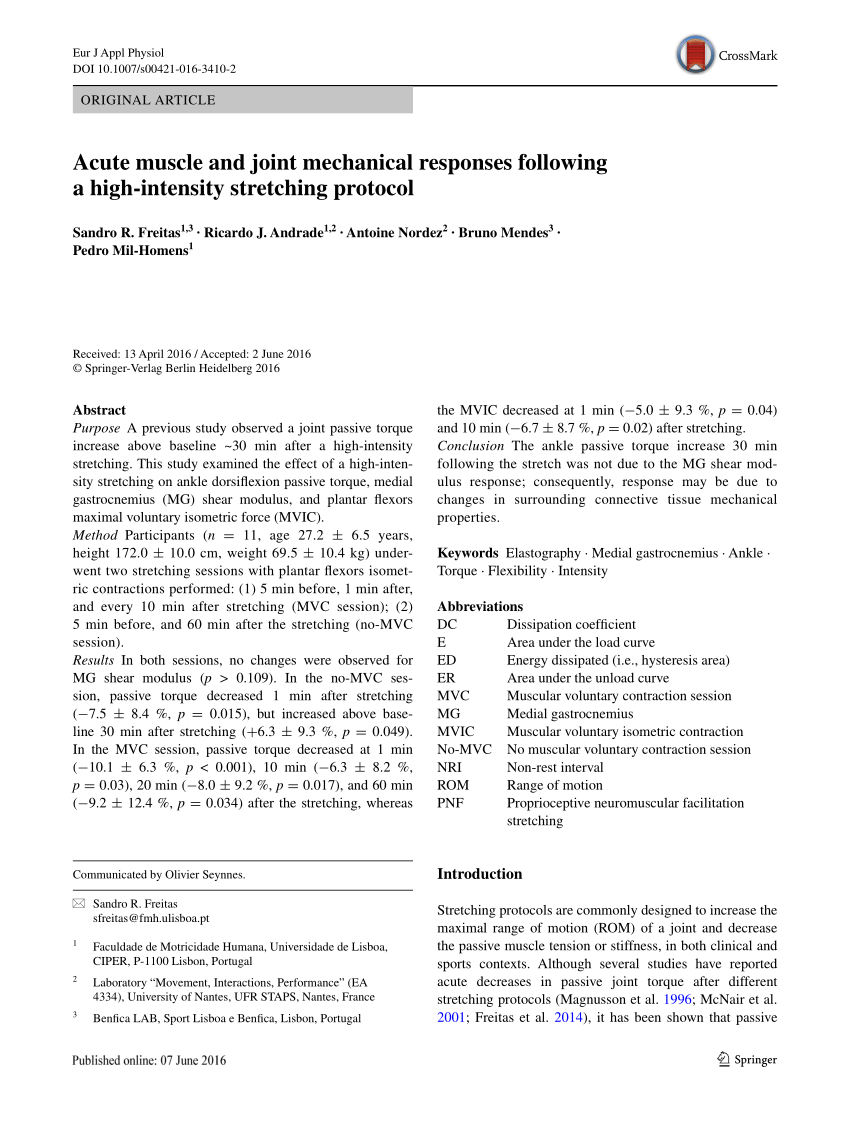 pdf stretching effects high intensity moderate duration vs low intensity long duration