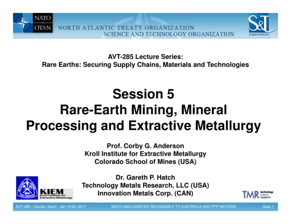 (PDF) Session 5: Rare-Earth Mining, Mineral Processing and ...