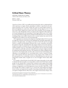 PDF) Critical Race Theory