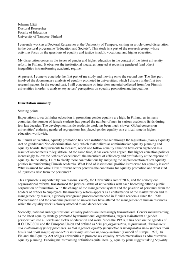 PDF) The summary of the dissertation proposal