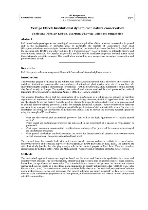 (PDF) Vertigo Effect: Institutional dynamics in nature ...