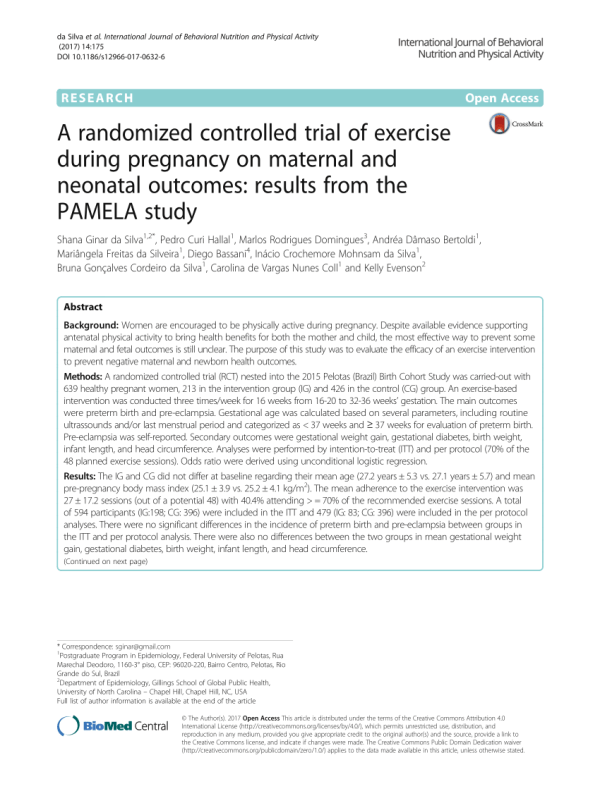 (PDF) A randomized controlled trial of exercise during ...