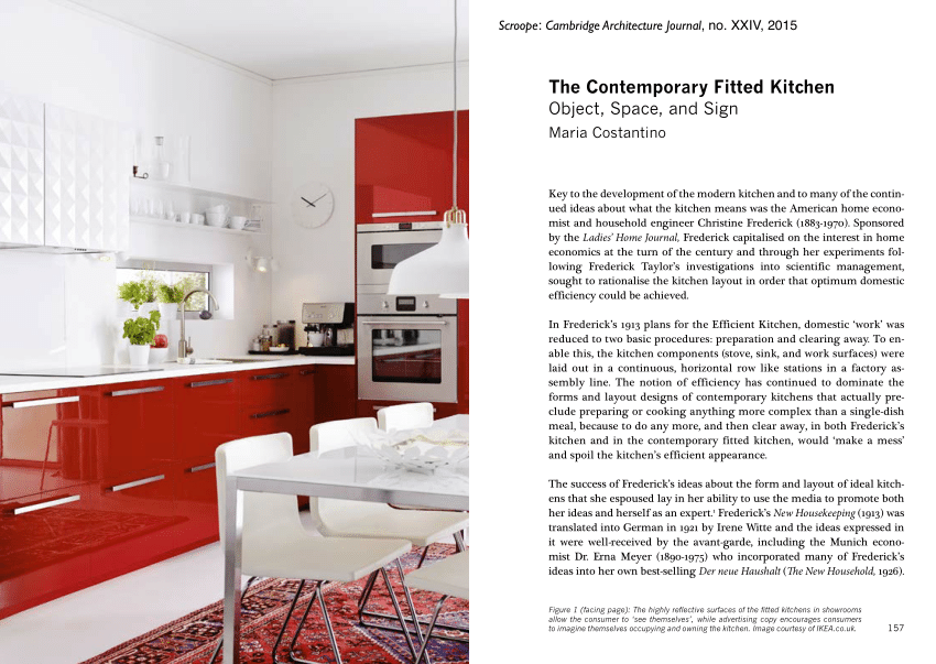 Pdf The Contemporary Fitted Kitchen Object Space And Sign