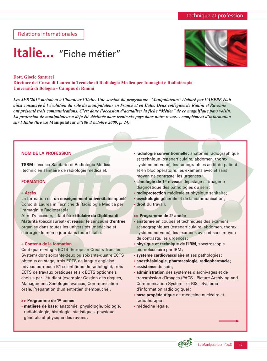 italie fiche metier le manipulateur