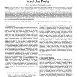 Pdf Adopting C2cad Model To Eco Capsule Wardrobe Design