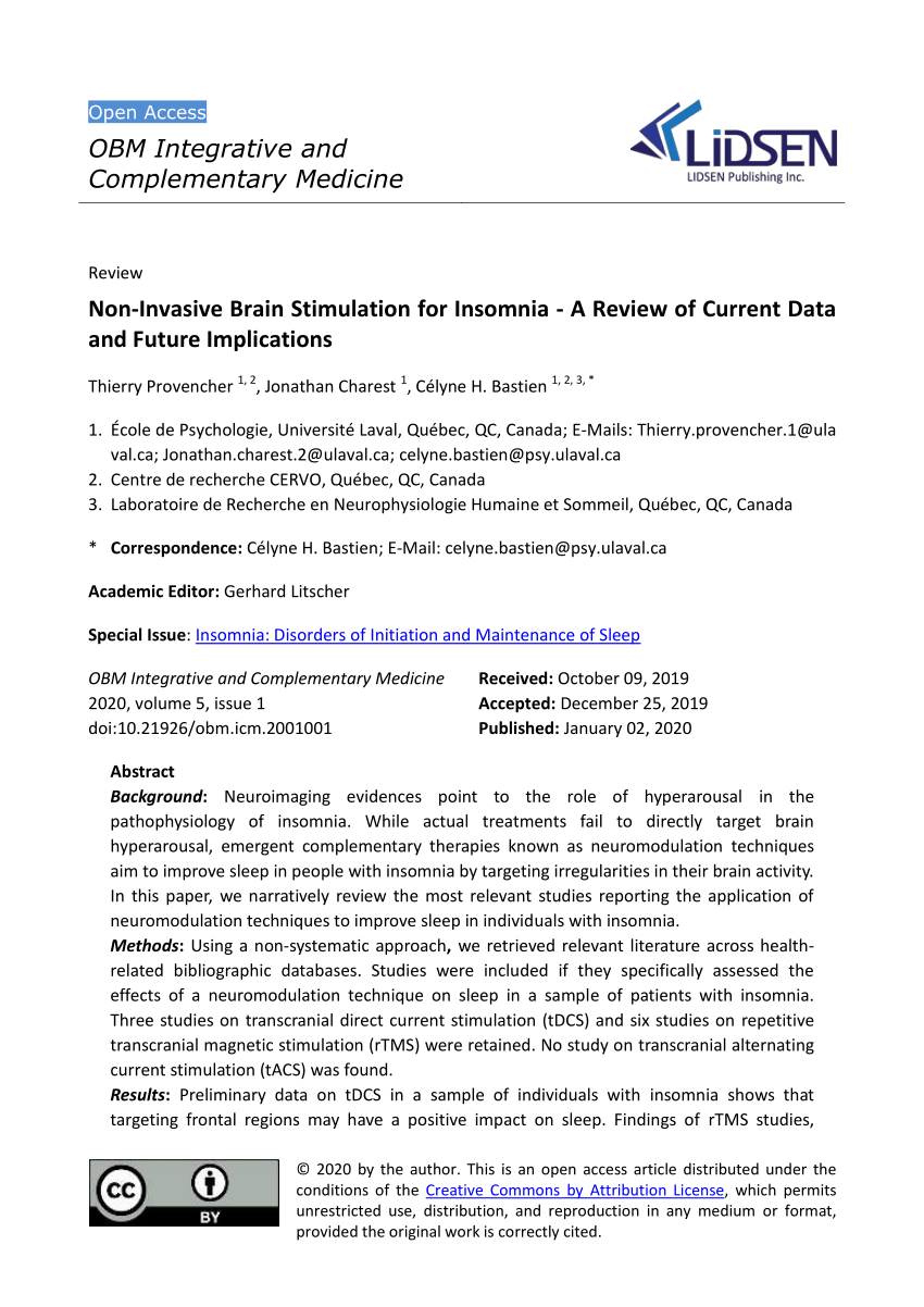 pdf non invasive brain stimulation for