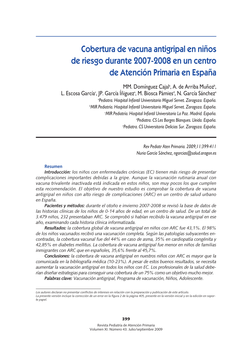 influenza vaccination coverage in asthmatic children in france in 2006 2007 request pdf