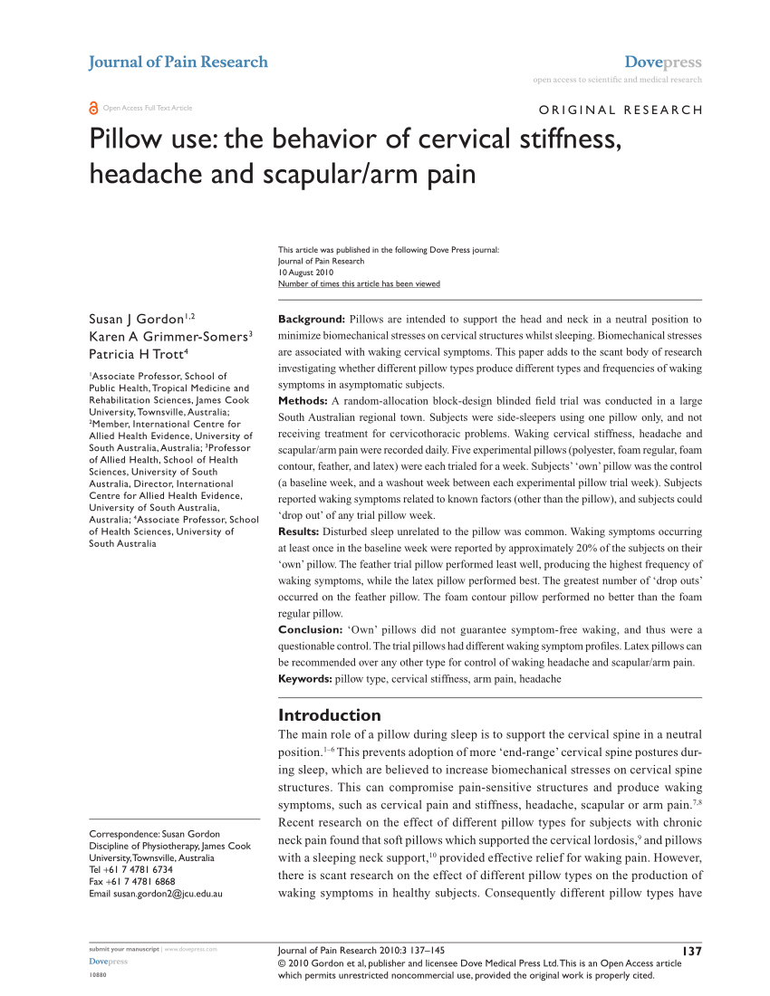 the behavior of cervical stiffness