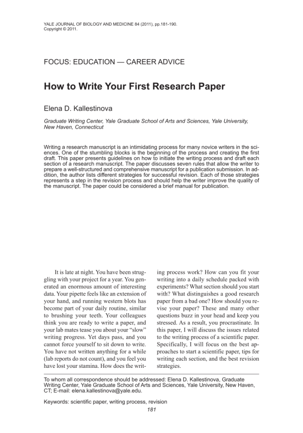 How to write a research paper quickly. Research Paper in ...
