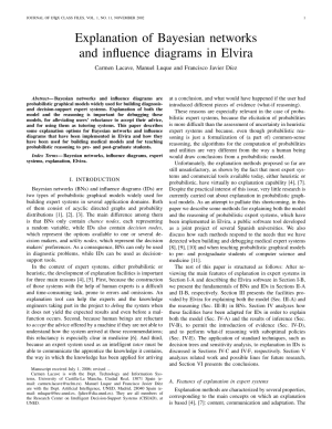 (PDF) Explanation of Bayesian Networks and Influence