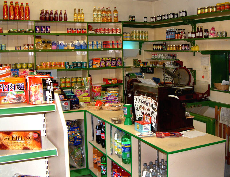 Inside Old Fashioned Grocery