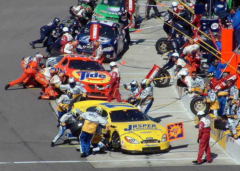 NASCAR PIT STOP - Rockingham, North Carolina