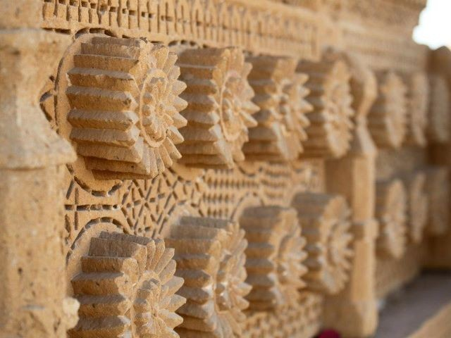 The buff sandstone graves and their style of architecture is native to Sindh, and unique since it is not found anywhere else in the Islamic world. PHOTO: FARAH KAMAL