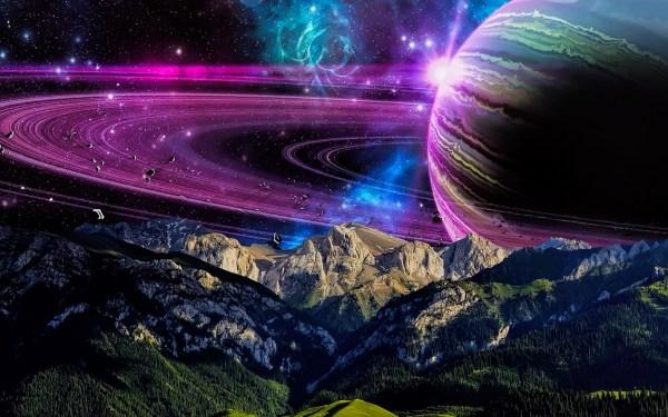 Обои космос, планета, вселенная, кольца, сатурн для ...